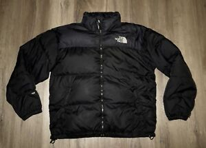 Men-039-s-THE-NORTH-FACE-Black-Nuptse-700-Down-Hooded-Puffer-Winter-Jacket-Coat-XL