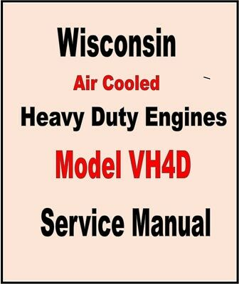 WISCONSIN VH4D ENGINE SERVICE REPAIR MANUAL TECHNICAL SHOP BOOK OVERHAUL CD EBay