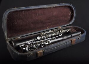 CLARINET-im-Koffer-Nr-26044-KLARINETTE-KLARNET-Musikinstrument-Leningrad-1967