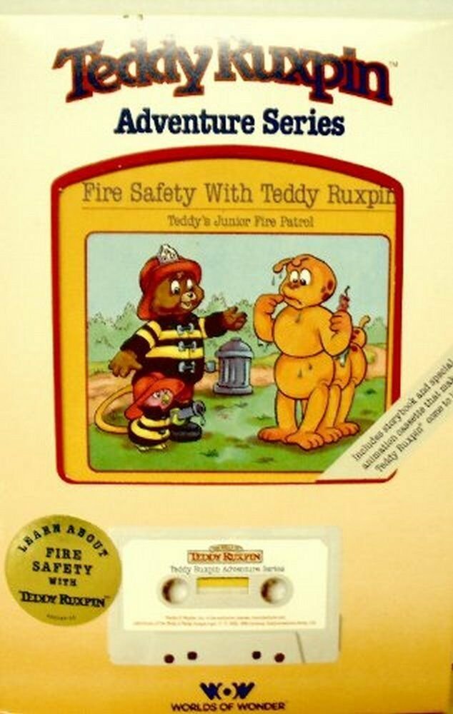 Fire Safety with Teddy Ruxpin Includes Book with Cassette Tape Adventure Series