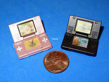 Miniature GAMEBOYS Nintendo Pink & Black Videogame for Barbie Tutti Todd Skipper