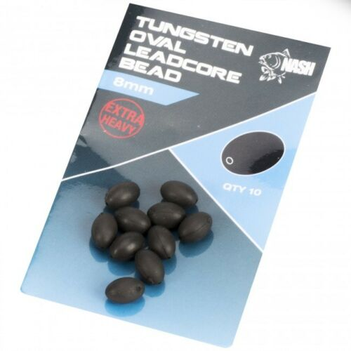 T8712 Nash Tungsten Oval Leadcore Beads
