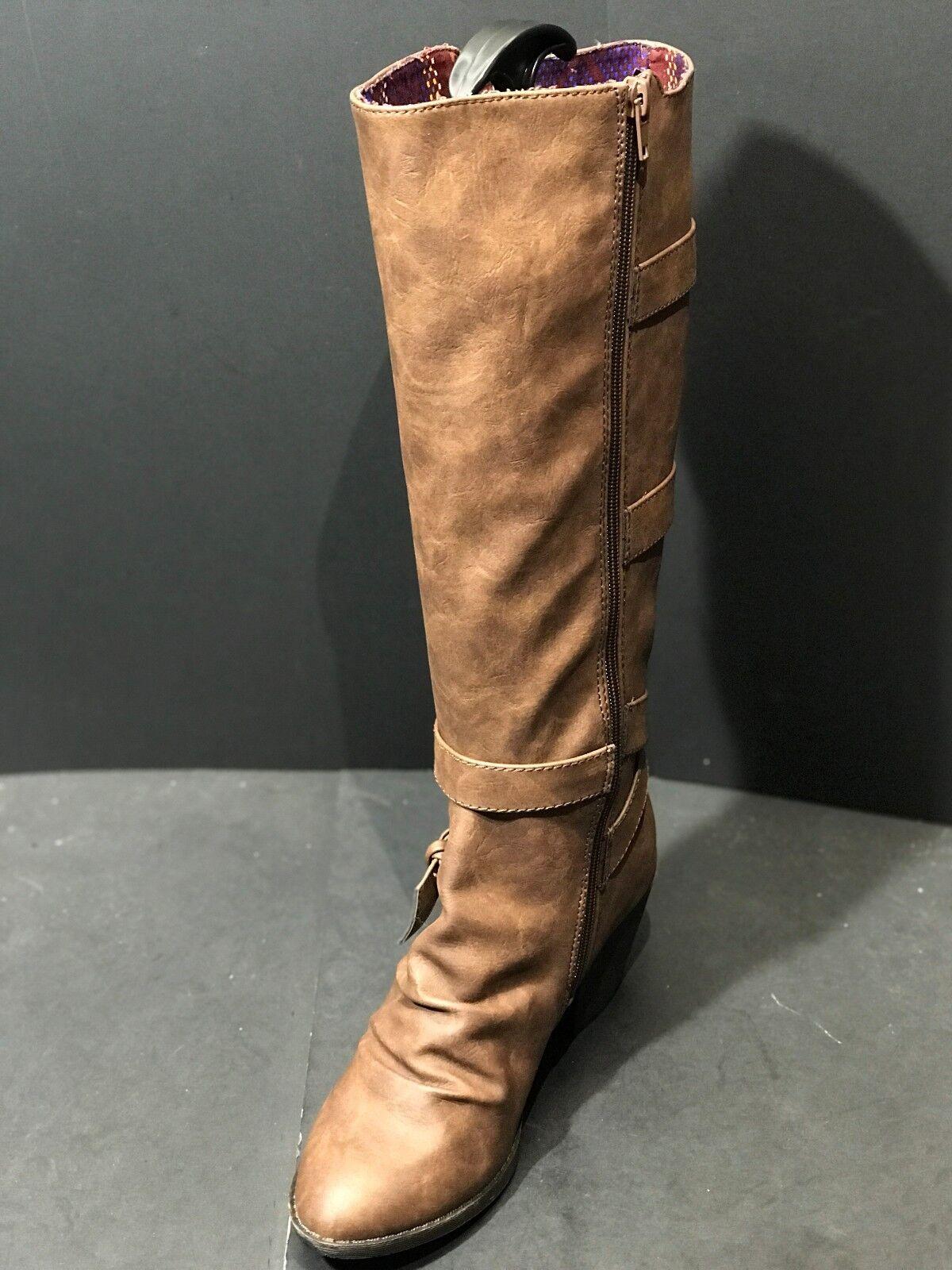 Blowfish donna Stay Knee High avvio Coffee Marroneee Leather Dimensione 7.5 M New