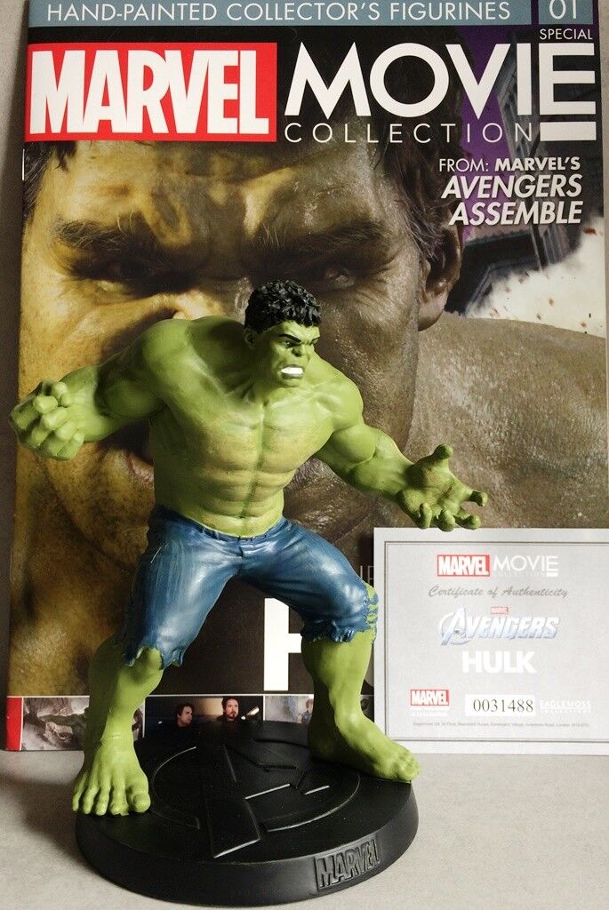 MARVEL MOVIE COLLECTION SPECIAL Marvel Incredible Hulk Figurine 16c EAGLEMOSS