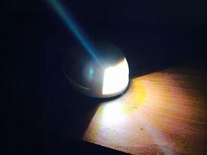 MARINE BOAT WHITE STERN LED NAVIGATION LIGHT HORIZONTAL MOUNT