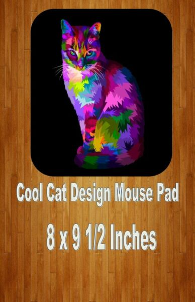 100% Waar Cool Cat Design Mouse Pad Home Or Office