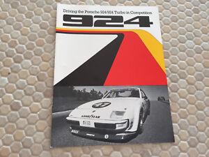 Details About Porsche 924 D 924 C Production Race Car Sales Brochure 1980