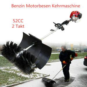 Benzin Motorbesen Kehrmaschine 2-Takt Sweeper Power Besen 52cc 2,3 HP DE DHL