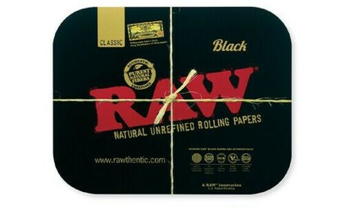 RAW Papers BLACK Magnetic ROLLING TRAY COVER