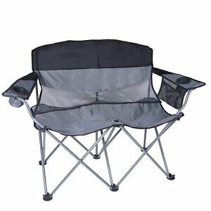 Gentil Image Is Loading Heavy Duty Camping Chair XXL Folding Loveseat Two