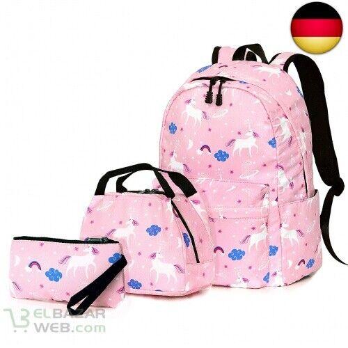 Pink Junlion Weiche Polyamid Tasche Pink Traum Einhorn Schulranzen-Set