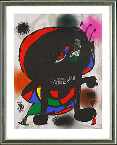 Joan-Miro-1893-1983-Original-Graphik-O-T-Biene-Bee-1977