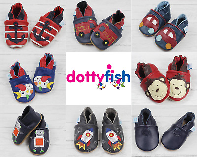 Dotty Fish Chaussures b/éb/é en Cuir Souple Sandales Gar/çons et Filles 0-6 Mois /à 3-4 Ans Chaussons antiderapant Bebe