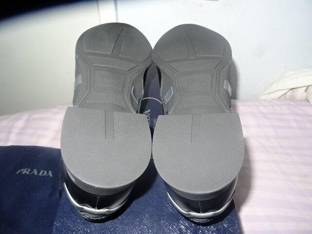 e4a39730055 ... Prada Men s Black Spazzolato Perforated Lace-Up Sneakers SZ SZ SZ UK 7  EU41 f1f241