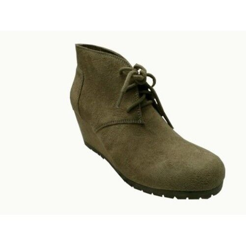 Faded Glory Women's Wedge Boot Stone Color Size 11 NEW