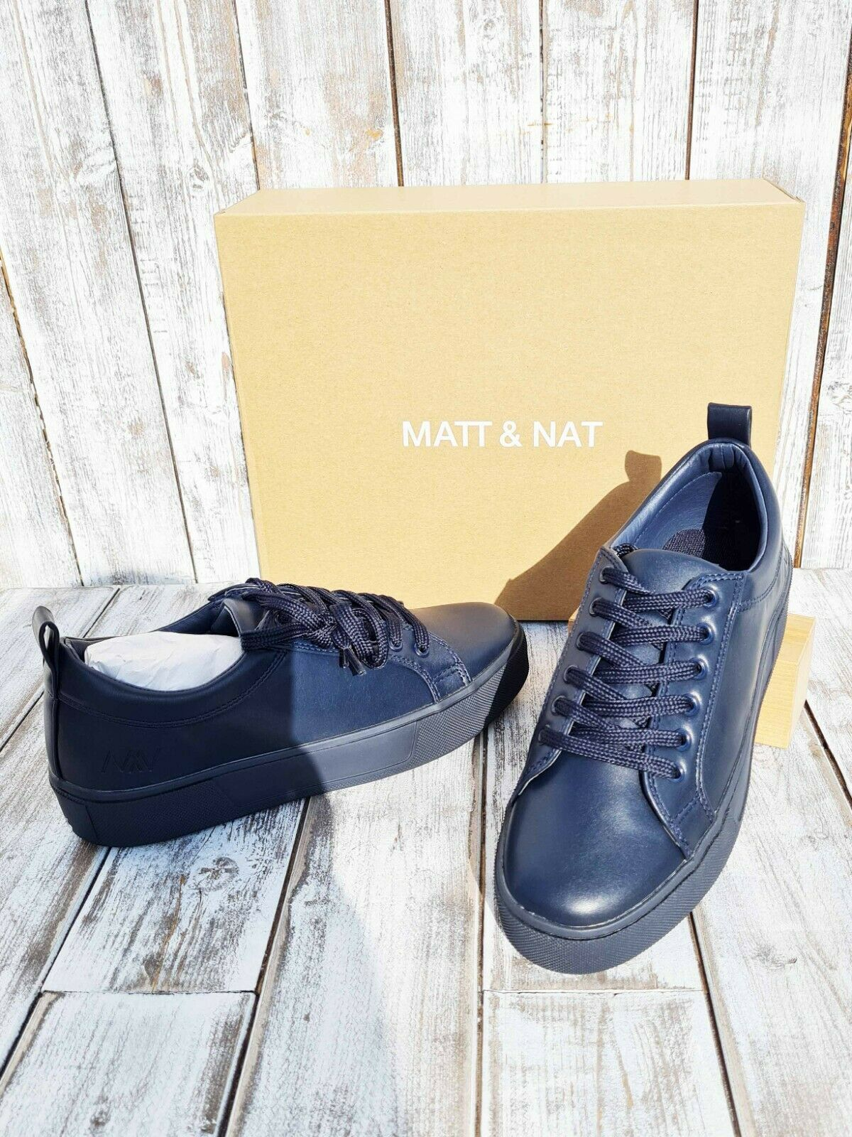Anthropologie - MATT & NAT Vegan Bona Sneakers In Ink - UK: 5 / US: 7 / EU: 38