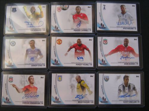 Lot 23 Topps AUTO Autograph Howard-Cole-Young-Barnes-Henderson-Guzan-Krul-Crouch