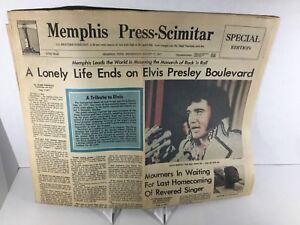 Elvis-August-1977-Press-Memphis-Death-Newspaper-SHIPS-FROM-MEMPHIS