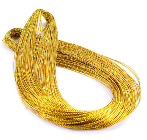 100M Silver//Gold Metallic Purl Wire Coil Bullion Cord String Finding Craft 1.0MM