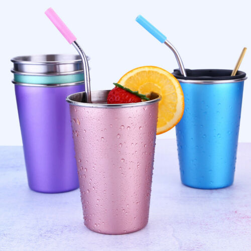 16.9oz Large Coffee Cup Stainless Steel Vacuum Insulated Travel Mug Straw Lid