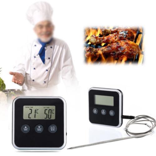 Hot Digitale Sonde LCD Thermometer Temperatur BBQ Kochen Fleisch Essen Q1
