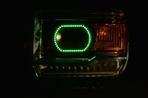 RGB Multi-Color LED Halo Ring Headlight Kit for GMC Sierra 1500 14-15