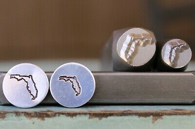 8mm Texas US State Metal Punch Design Jewelry Stamp