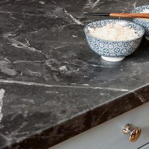 Schwarzer Marmor Arbeitsplatte Resopal Kuchenarbeitsplatten 38mm