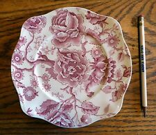 """Johnson Brothers English Chippendale Vintage China  Red SALAD PLATE  7 5/8"""" EUC"""