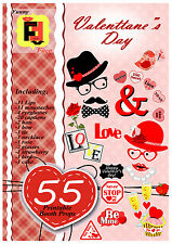 55 DIY pdf printable Photo Booth Props for Valentines Day (Valentine's), wedding
