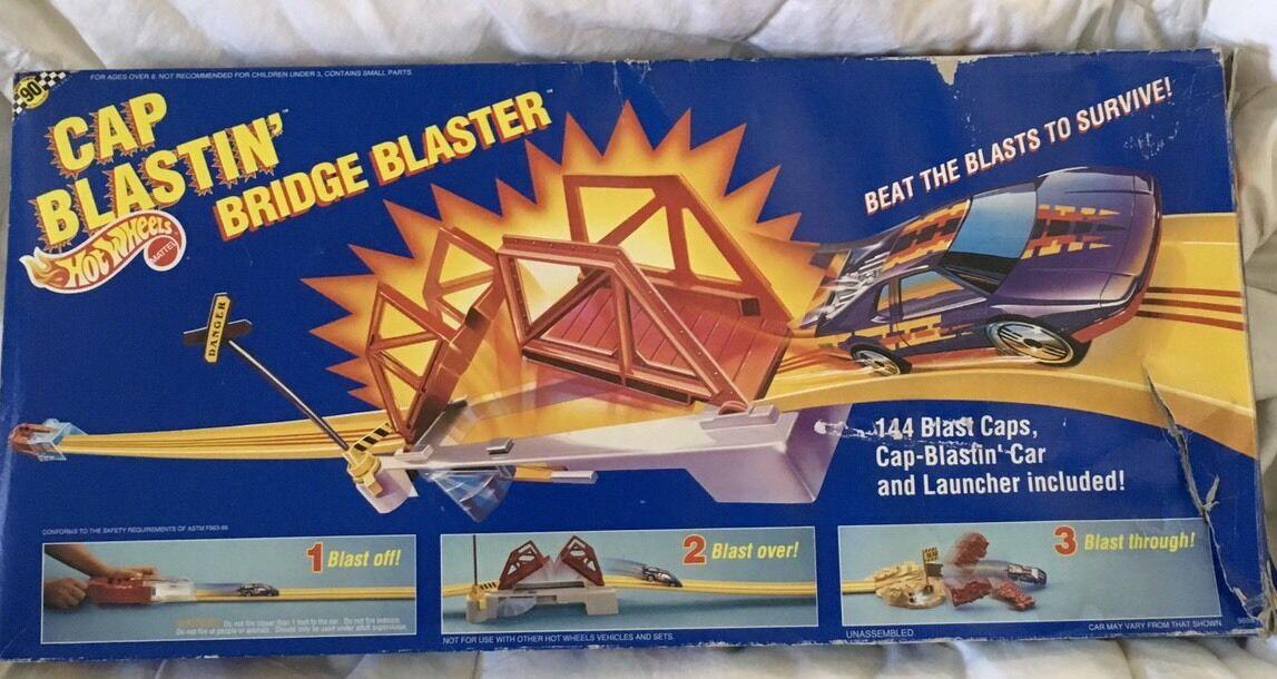 Vintage Hot Wheels  9888 Tapa blastina  puente Blaster Set Con Extras  1990