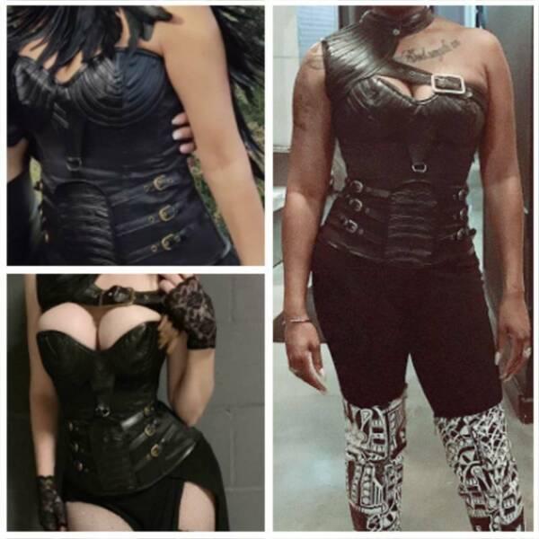 Damen Sexy Gothic Schwarz Steampunk Korsett Burlesque Bustier Top Korsage Corset