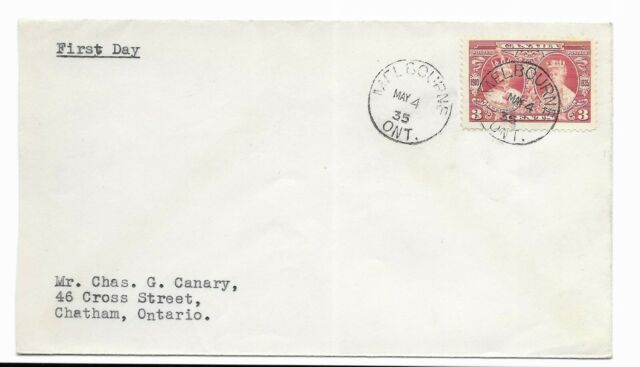 Canada 1935 King George V & Queen Mary SC#213 First Day Cover Canada