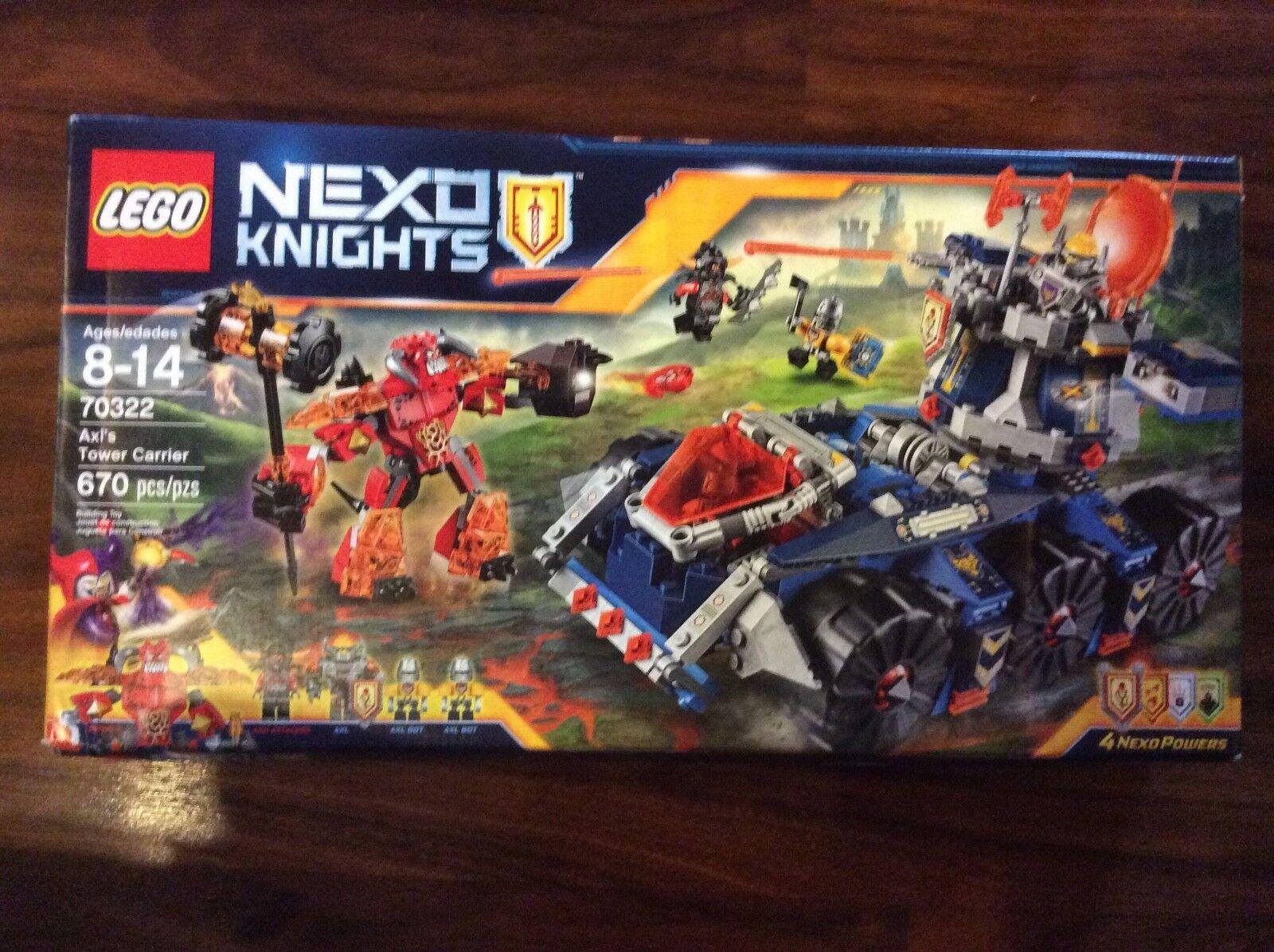 New Lego Nexo Knights Axl'sTower Carrier Set 70322 70322 70322 in Sealed Box Shelfwear 3717f1