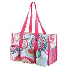 Thirty One Zip-top Citrus medallion pattern Tote Women's Handbags shopping bag