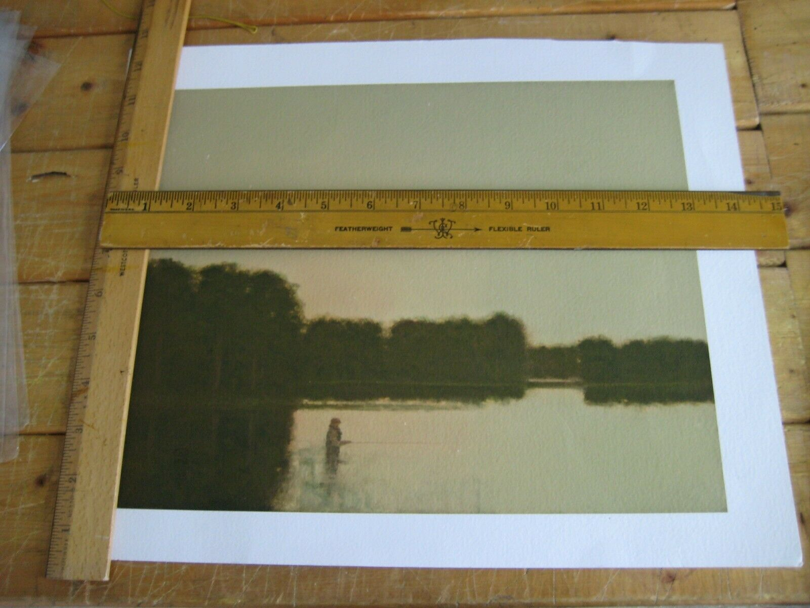 RUSSELL CHATHAM PRINT ANGLING SCENE UNREMARKED on eBay thumbnail