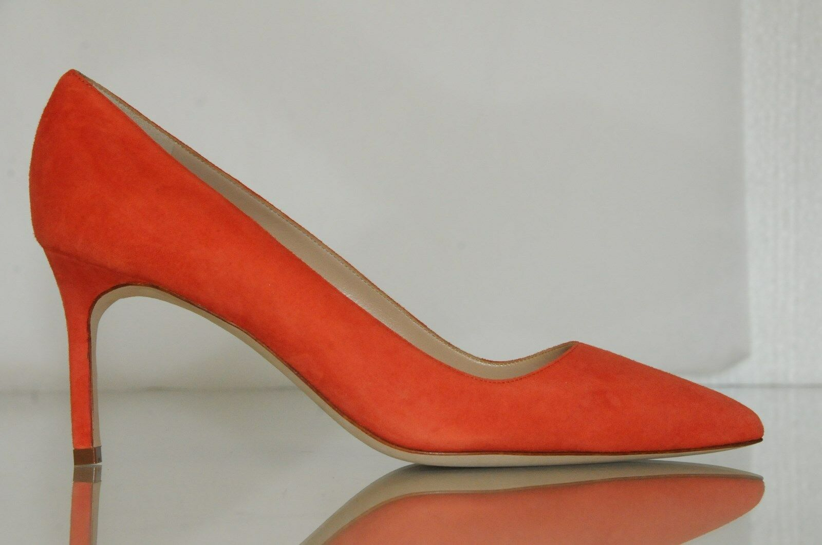 New Manolo Blahnik Blahnik Blahnik BB 70 orange Suede shoes Heels Pumps 36.5 40 40.5 6d8470