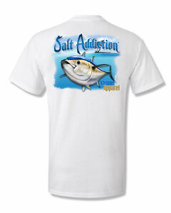 Salt Addiction long sleeve saltwater tuna fishing t shirt flats ocean life