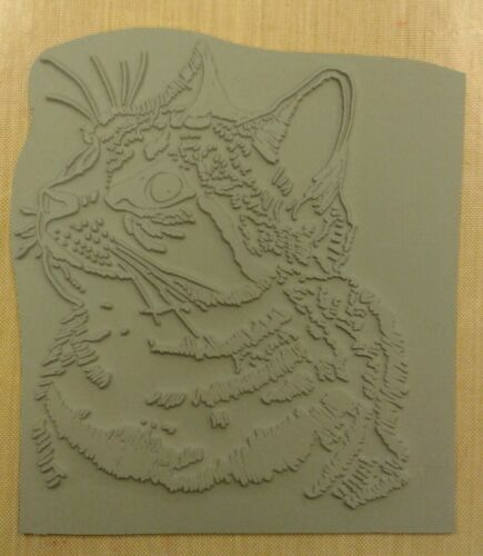 Unmounted rubber stamp Friendly Cat