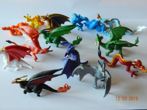 TUBE Gift! Toy DRAGONS figures includes 10 Plastic Mythical Creatures