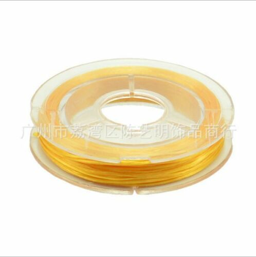 1Roll 0.3mm Width Flat Elastic Rope Beading Wire Jewelry Wrap DIY Craft Cord