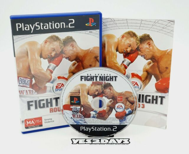 EA SPORTS FIGHT NIGHT Round 3  Sony PlayStation 2 Game ps2 Complete w/ MINT Disc
