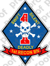 STICKER USMC UNIT   1ST MARINE SECURITY GUARD  ooo  USMC Lisc No 19172
