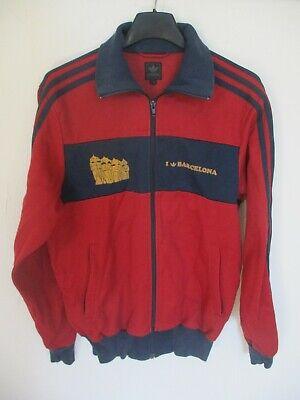 Veste ADIDAS rétro vintage I LOVE BARCELONA felpa jacket rouge bordeaux S | eBay