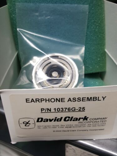 David Clark Headset earphone assembly replacement P//N 10376G-25