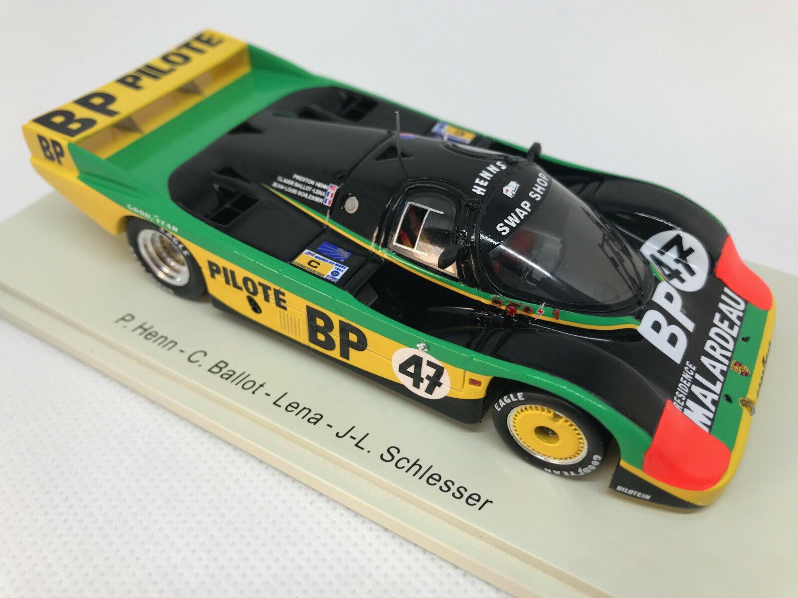 1 43 PORSCHE 956  47 Henn Ballot-Lena Schlesser 24h Le Uomo 1983 SPARK s7503