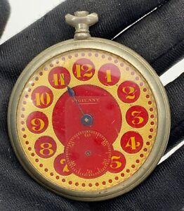 Vigilant-Main-Manuel-Vintage-48-5-mm-Pas-Fonctionne-pour-Pieces-de-Poche-Montre