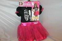 Barbie Halloween Costume Girl Size:small Rubies Pink Black Striped Pink Mask