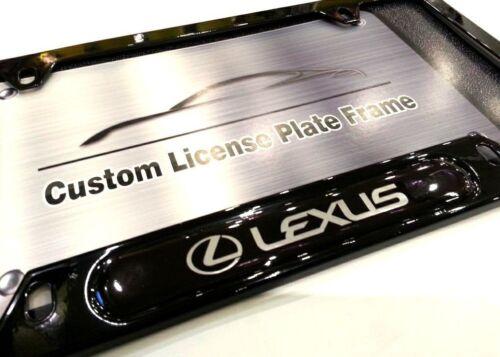 License Plate Frame for LEXUS Gloss Black  IS CT ES RX NX RC GS LS GX LX LC RCF
