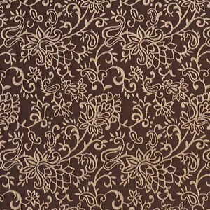 B603 Brown Floral Contemporary Woven Jacquard Upholstery Fabric By